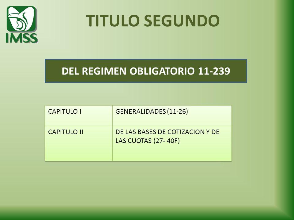 TITULO SEGUNDO DEL REGIMEN OBLIGATORIO 11-239