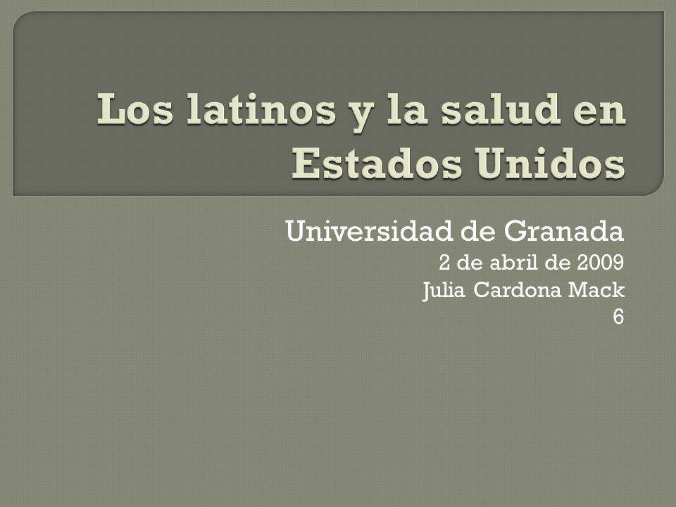 Universidad de Granada 2 de abril de 2009 Julia Cardona Mack 6