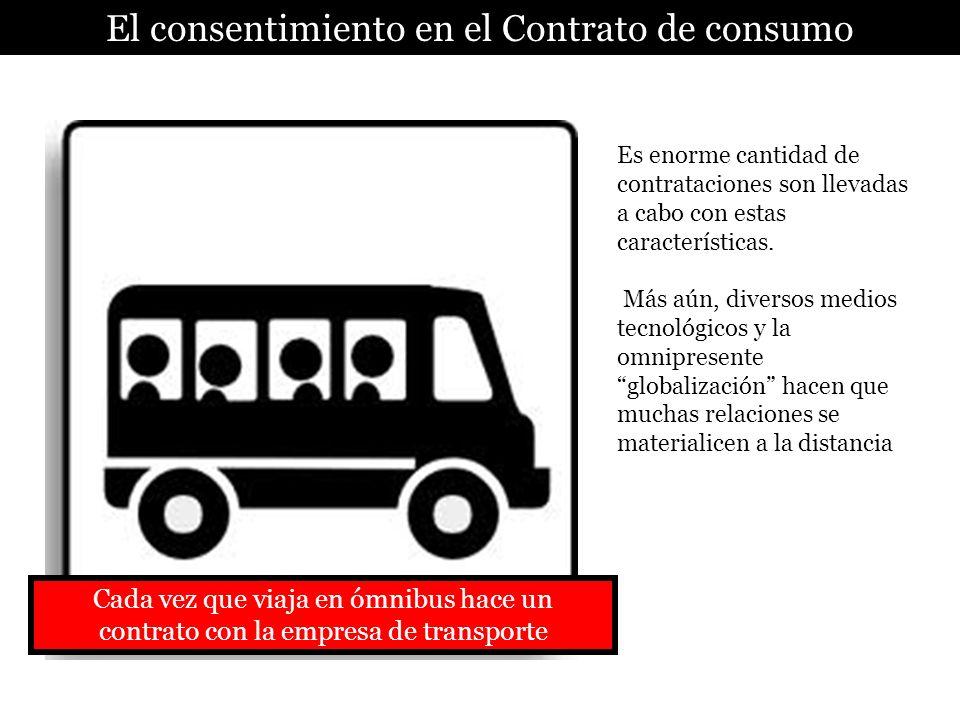 El consentimiento en el Contrato de consumo Es enorme cantidad de contrataciones son llevadas a cabo con estas características. Más aún, diversos medi