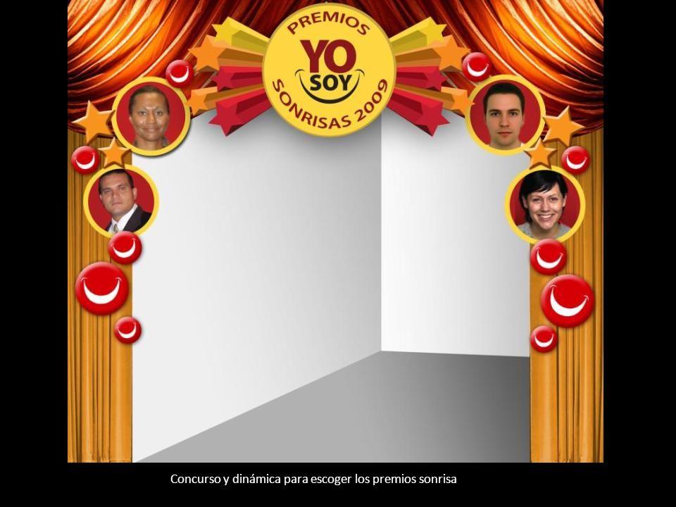Concurso y dinámica para escoger los premios sonrisa
