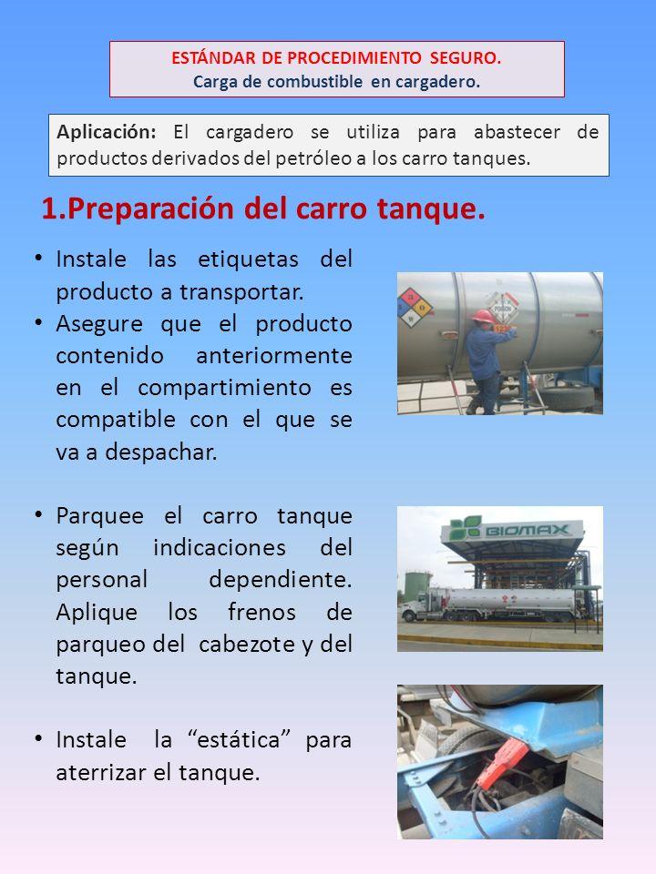 Aplicación: El cargadero se utiliza para abastecer de productos derivados del petróleo a los carro tanques.