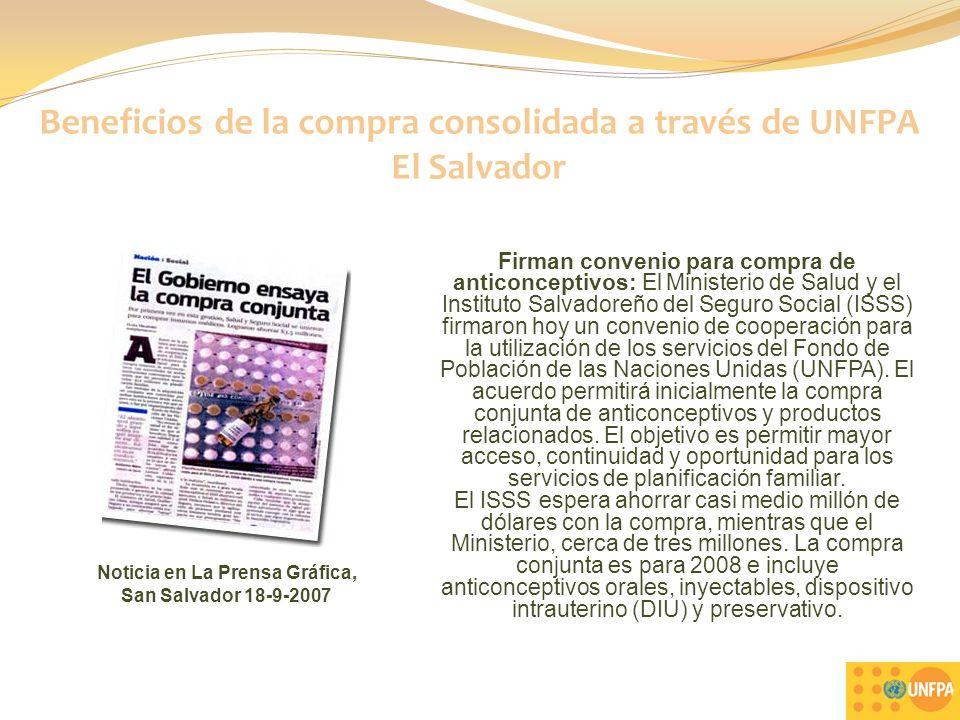 21 Firman convenio para compra de anticonceptivos: El Ministerio de Salud y el Instituto Salvadoreño del Seguro Social (ISSS) firmaron hoy un convenio de cooperación para la utilización de los servicios del Fondo de Población de las Naciones Unidas (UNFPA).