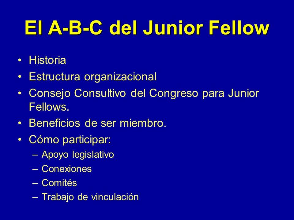 Estructura Organizacional del ACOG Consejo Ejecutivo del ACOG Consejo de los Presidentes Distritales Consejo Consultivo del Congreso para Junior Fello