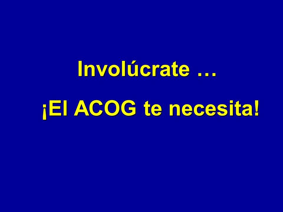 Colegio (501c3) a Congreso (501c6) Aunque los fellows desean que el ACOG continue con su misión educativa, recientemente se han visto muy interesados