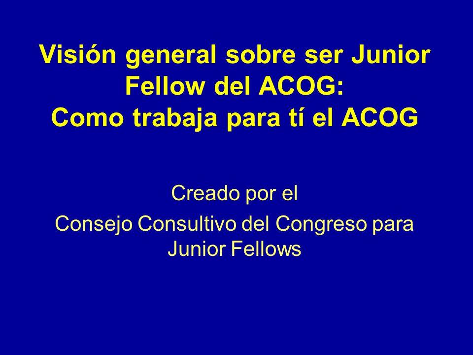 Beneficios de la membresía Oportunidades de liderazgo en el ACOG.Oportunidades de liderazgo en el ACOG.