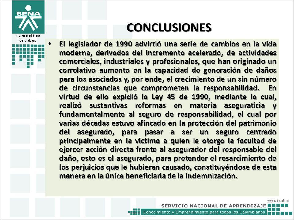 CONCLUSIONES El legislador de 1990 advirtió una serie de cambios en la vida moderna, derivados del incremento acelerado, de actividades comerciales, i