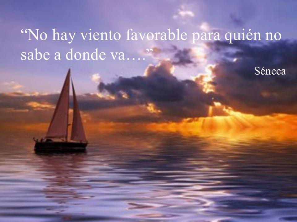 No hay viento favorable para quién no sabe a donde va…. Séneca