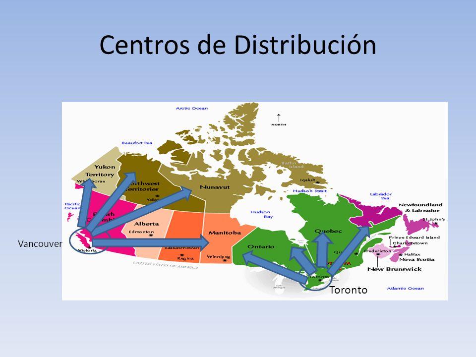 Centros de Distribución Vancouver Toronto