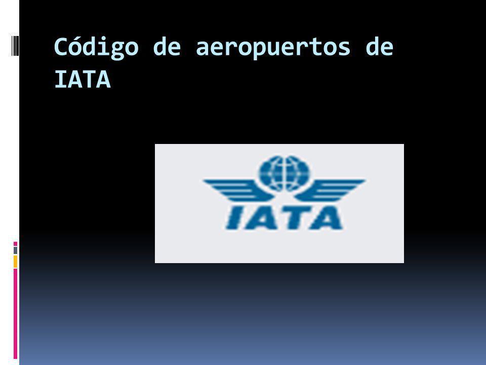 es un código de tres letras que designa a cada aeropuerto en el mundo.