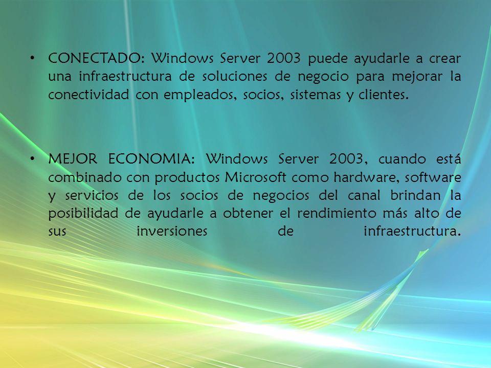 ¿Por qué Microsoft Windows Server 2003.