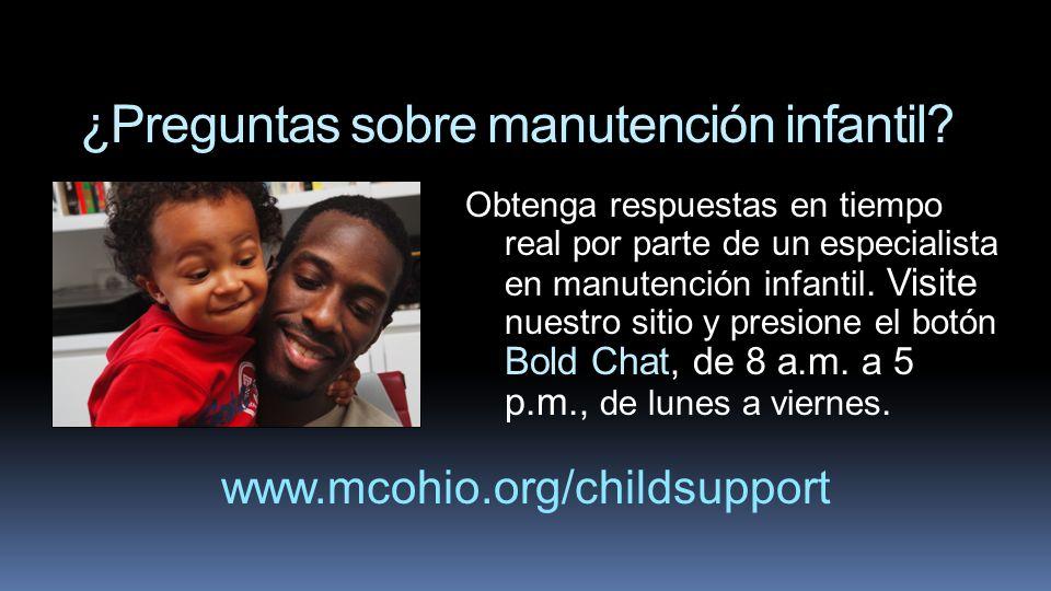 ¿Preguntas sobre manutención infantil? Obtenga respuestas en tiempo real por parte de un especialista en manutención infantil. Visite nuestro sitio y