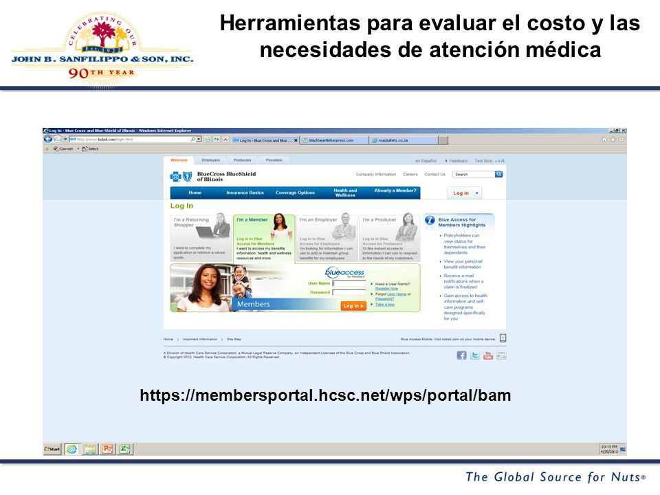 Herramientas para evaluar el costo y las necesidades de atención médica https://membersportal.hcsc.net/wps/portal/bam