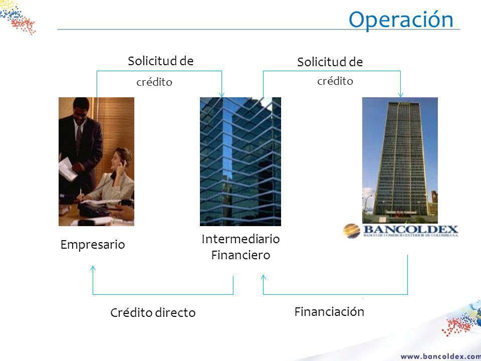 Empresario Intermediario Financiero Solicitud de crédito Crédito directo Financiación Operación
