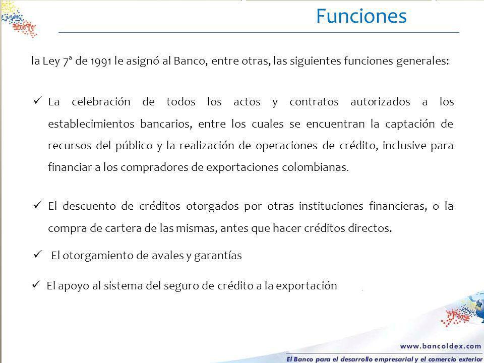a. La celebración de todos los actos y contratos autorizados a los establecimientos bancarios, entre los cuales se encuentran la captación de recursos