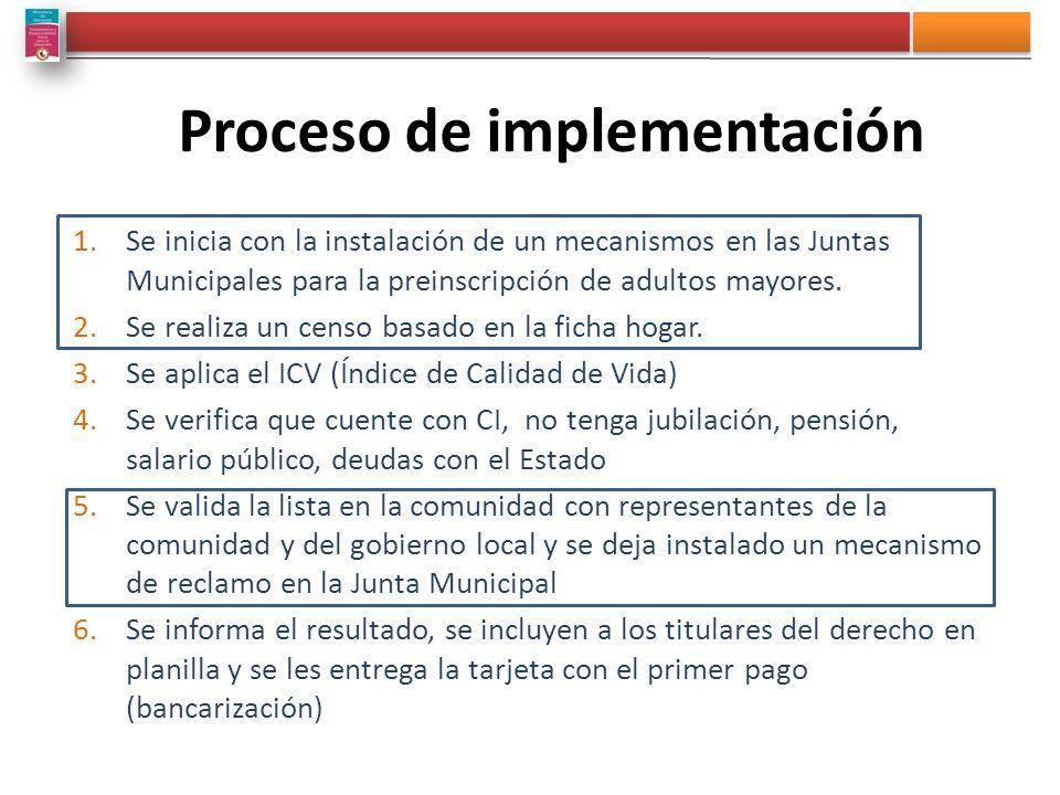 1.Se inicia con la instalación de un mecanismos en las Juntas Municipales para la preinscripción de adultos mayores. 2.Se realiza un censo basado en l