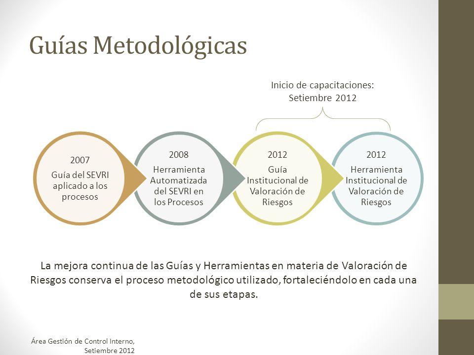Guías Metodológicas 2012 Herramienta Institucional de Valoración de Riesgos 2012 Guía Institucional de Valoración de Riesgos 2008 Herramienta Automati