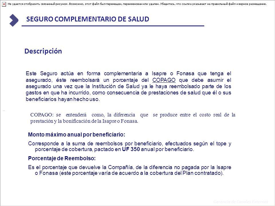 Gerencia de Canales Externos SEGURO COMPLEMENTARIO DE SALUD ¿CÓMO FUNCIONA EL SEGURO COMPLEMENTARIO.