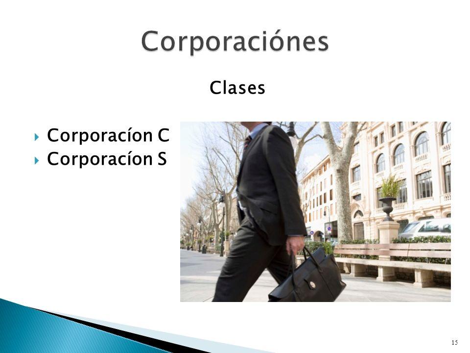 Clases Corporacíon C Corporacíon S 15