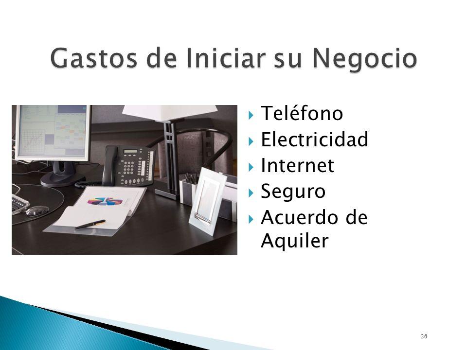 Teléfono Electricidad Internet Seguro Acuerdo de Aquiler 26