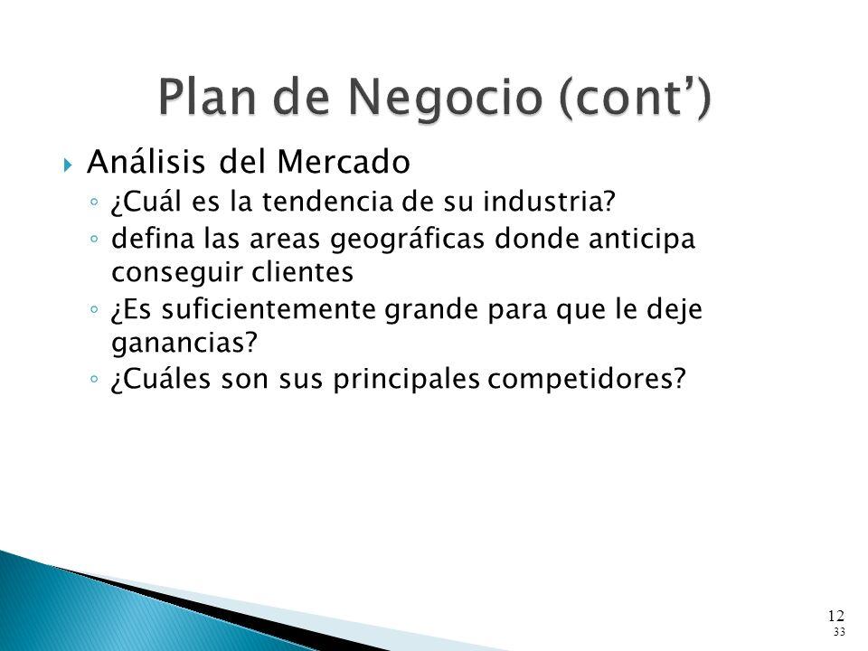 Análisis del Mercado ¿Cuál es la tendencia de su industria.