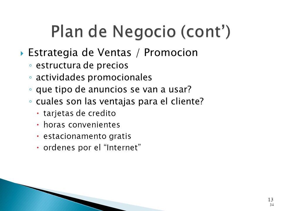 Estrategia de Ventas / Promocion estructura de precios actividades promocionales que tipo de anuncios se van a usar.