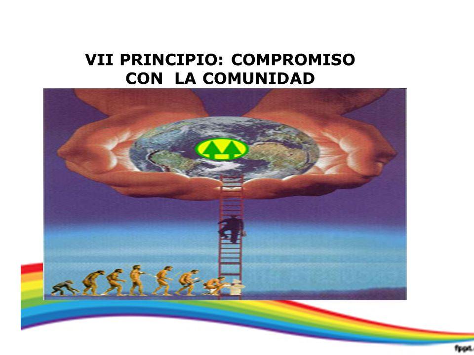 VII PRINCIPIO: COMPROMISO CON LA COMUNIDAD