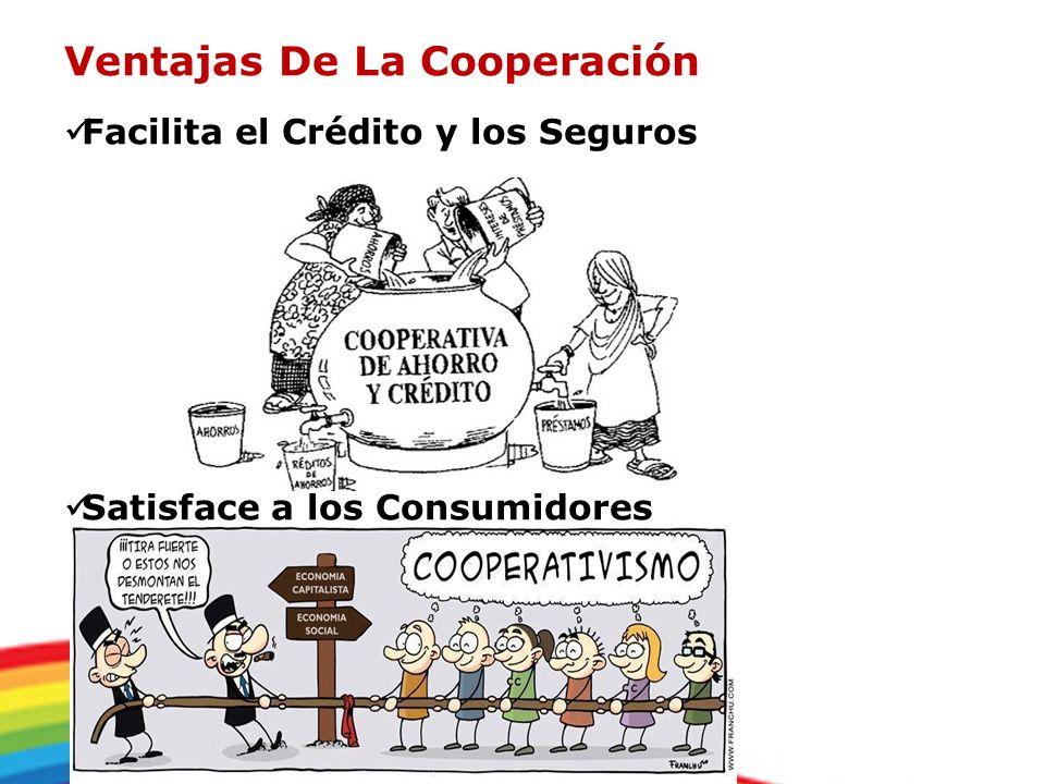 Ventajas De La Cooperación Facilita el Crédito y los Seguros Satisface a los Consumidores