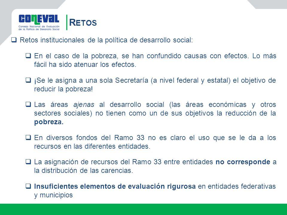 Retos institucionales de la política de desarrollo social: En el caso de la pobreza, se han confundido causas con efectos.