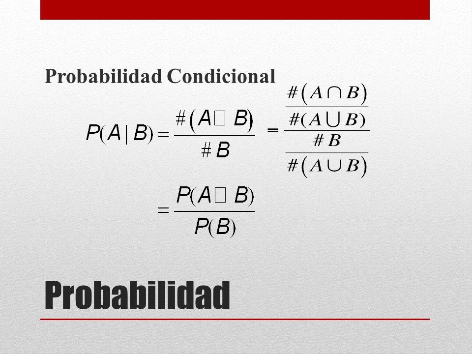 Probabilidad Probabilidad Condicional