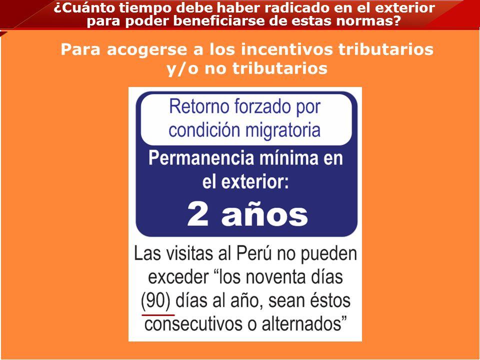 ¿Cuál es el plazo para solicitar beneficios tributarios desde la emisión de la TARJETA DEL MIGRANTE RETORNADO.