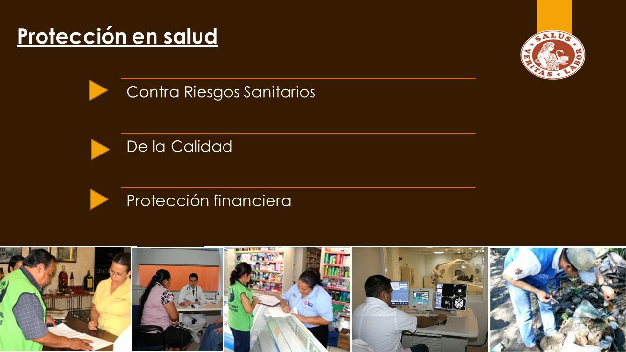 Protección en salud Contra Riesgos Sanitarios De la Calidad Protección financiera