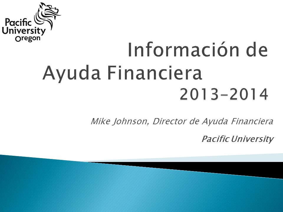 Mike Johnson, Director de Ayuda Financiera Pacific University