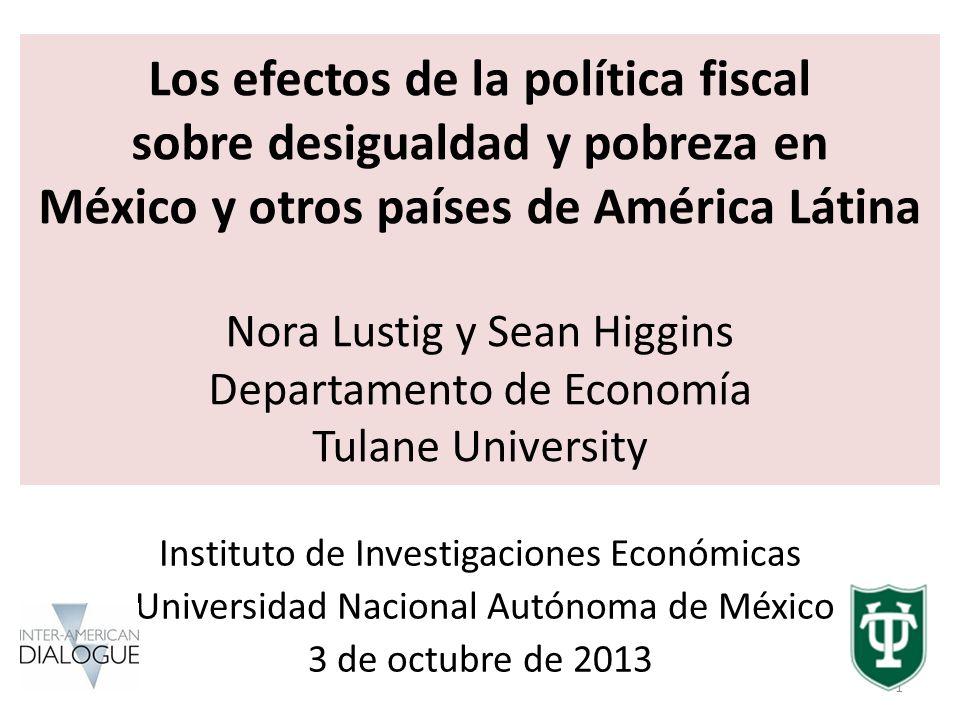 Compromiso con la Equidad (CEQ) América Latina Proyecto de Tulane University (CIPR y depto.