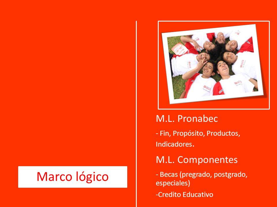 M.L.Pronabec - Fin, Propósito, Productos, Indicadores.