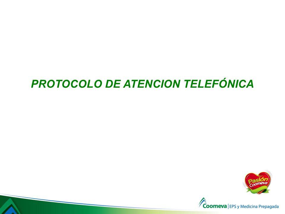 PROTOCOLO DE ATENCION TELEFÓNICA
