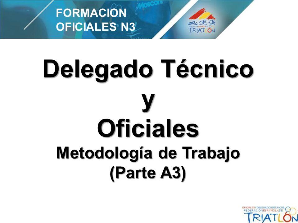 Delegado Técnico y Oficiales Metodología de Trabajo (Parte A3) FORMACION OFICIALES N3