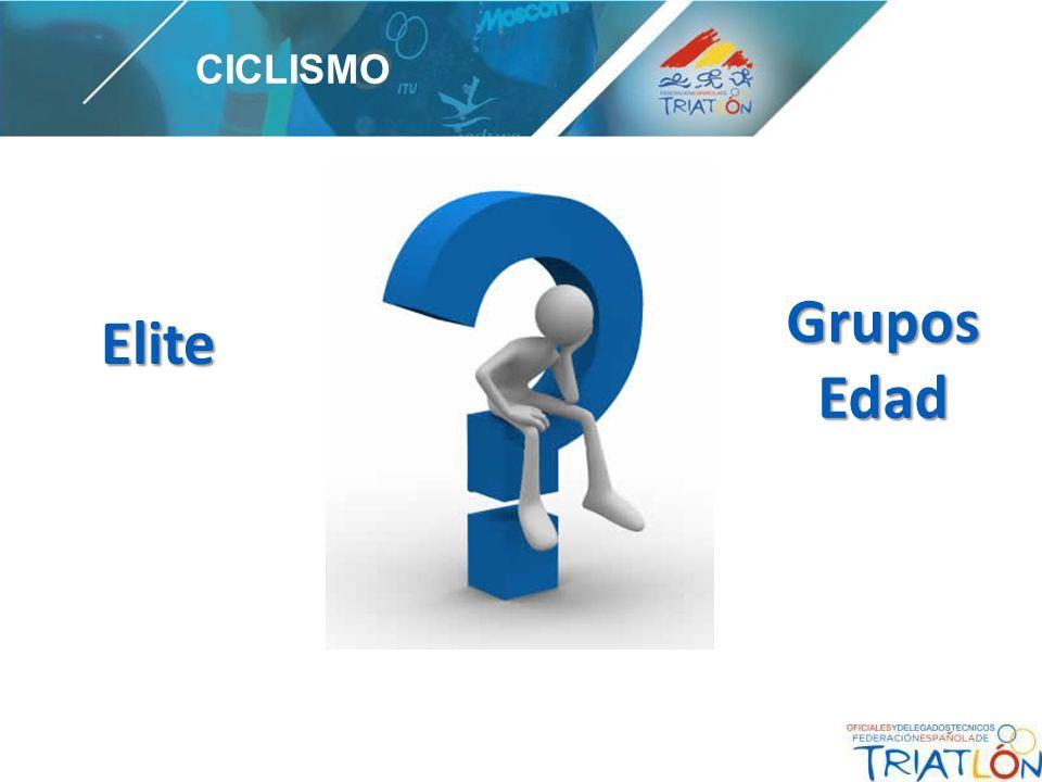 Elite Grupos Edad CICLISMO