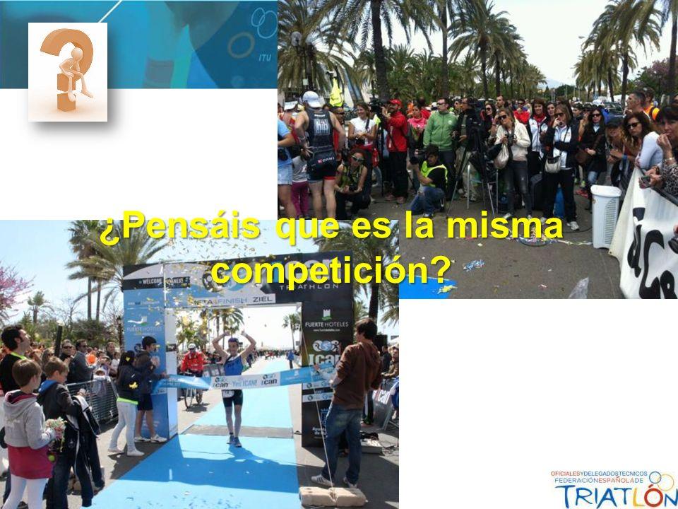 ¿Pensáis que es la misma competición?