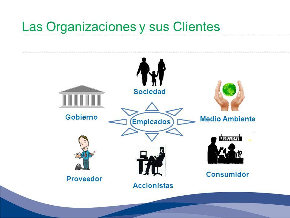 Medio Ambiente Consumidor Accionistas Sociedad Gobierno Proveedor Empleados Las Organizaciones y sus Clientes