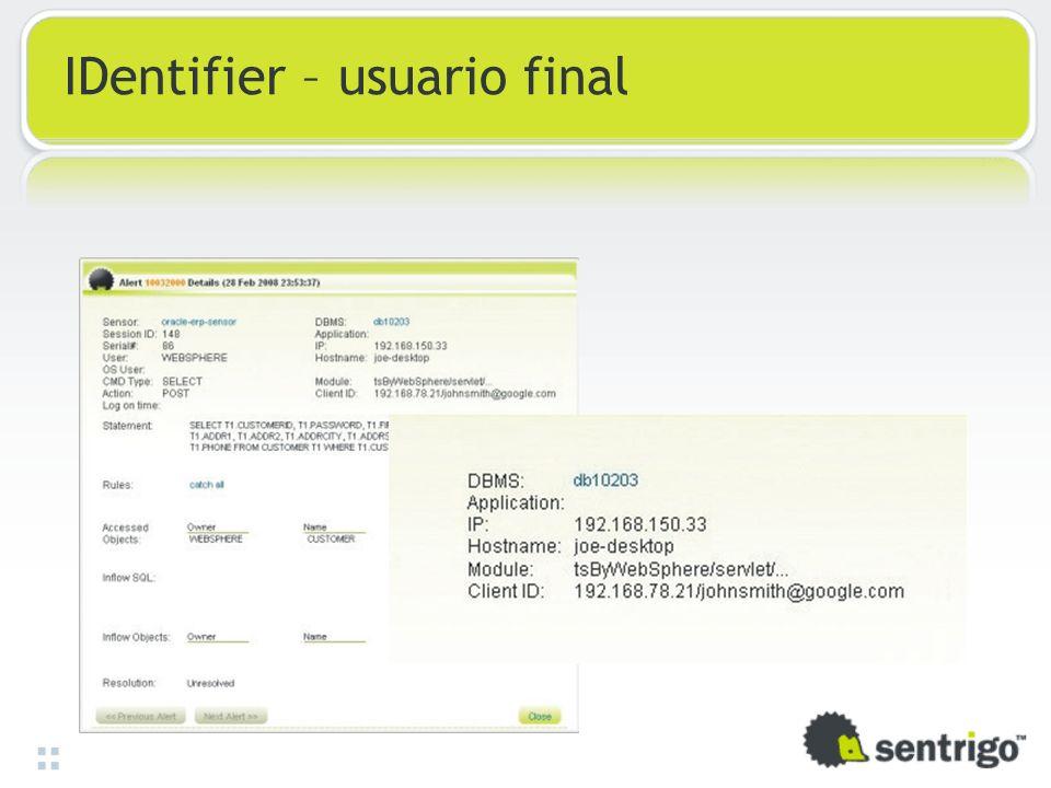 IDentifier – usuario final