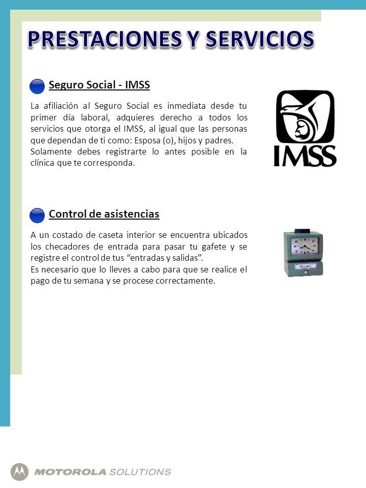Seguro Social - IMSS La afiliación al Seguro Social es inmediata desde tu primer día laboral, adquieres derecho a todos los servicios que otorga el IM
