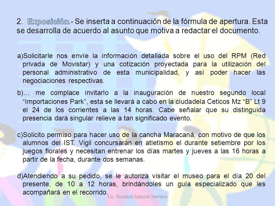 a)Solicitarle nos envíe la información detallada sobre el uso del RPM (Red privada de Movistar) y una cotización proyectada para la utilización del pe
