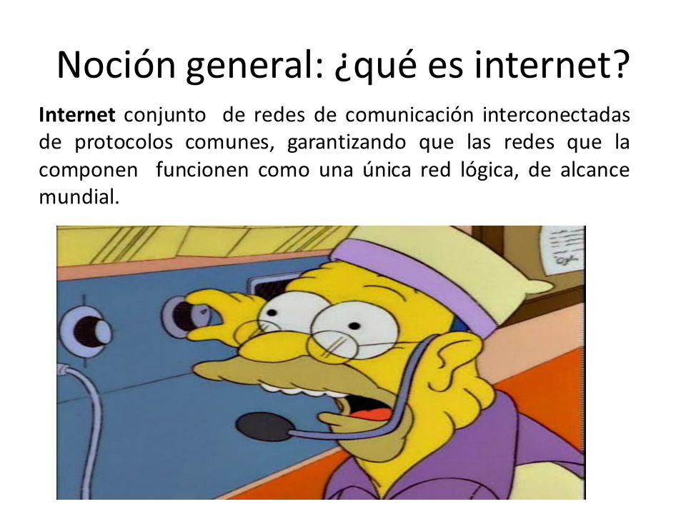 Noción general: ¿qué es internet.