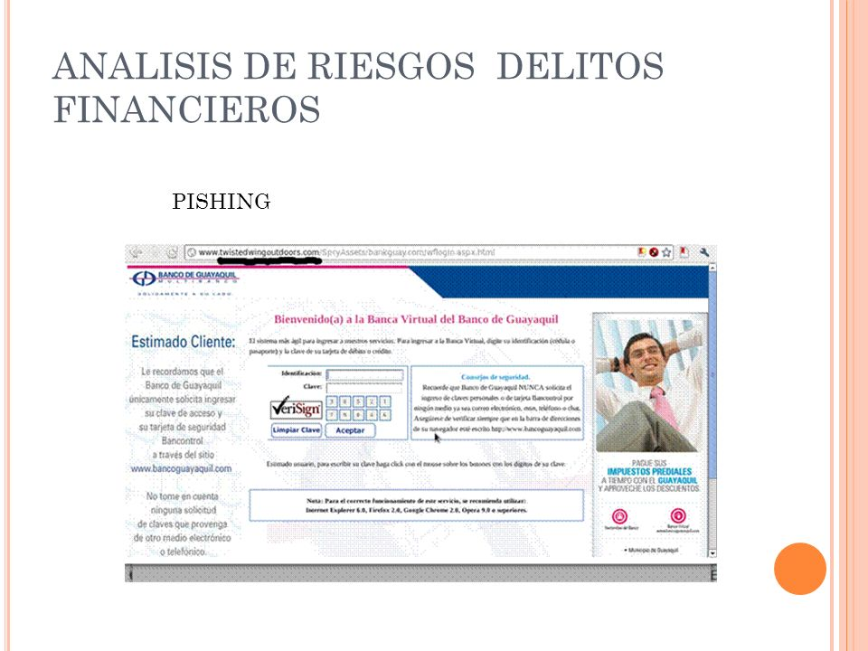 ANALISIS DE RIESGOS DELITOS FINANCIEROS PISHING