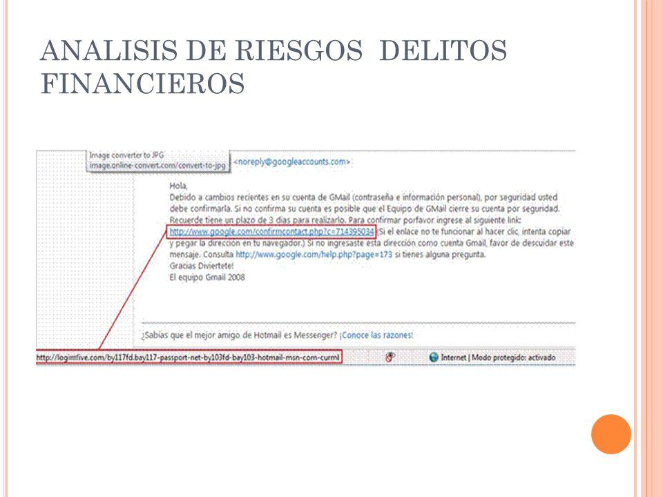 ANALISIS DE RIESGOS DELITOS FINANCIEROS