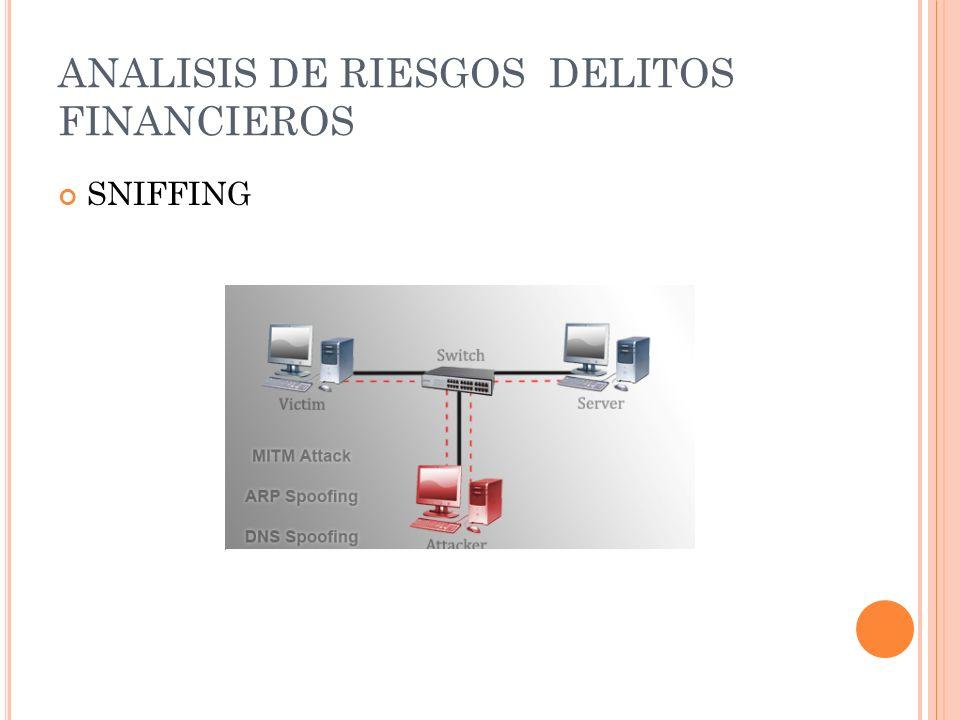 ANALISIS DE RIESGOS DELITOS FINANCIEROS SNIFFING