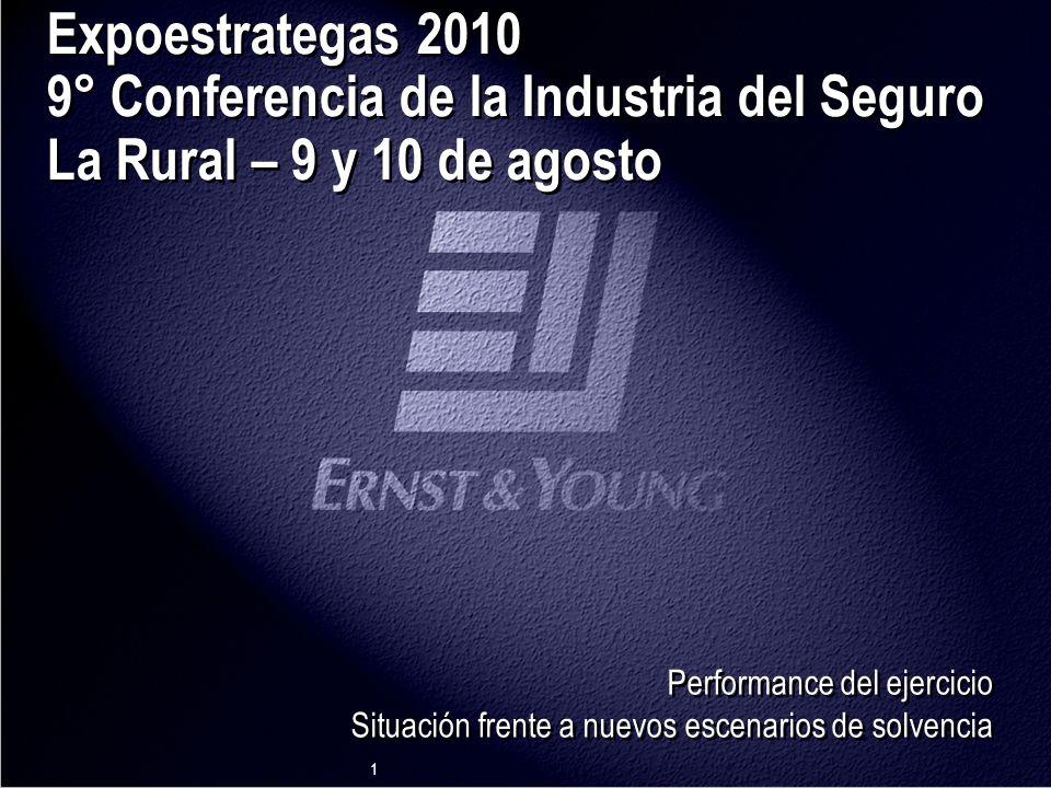 1 Expoestrategas 2010 9° Conferencia de la Industria del Seguro La Rural – 9 y 10 de agosto Performance del ejercicio Situación frente a nuevos escenarios de solvencia