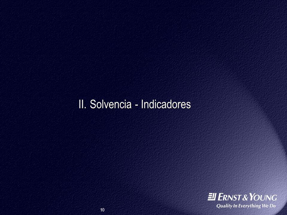 10 II.Solvencia - Indicadores