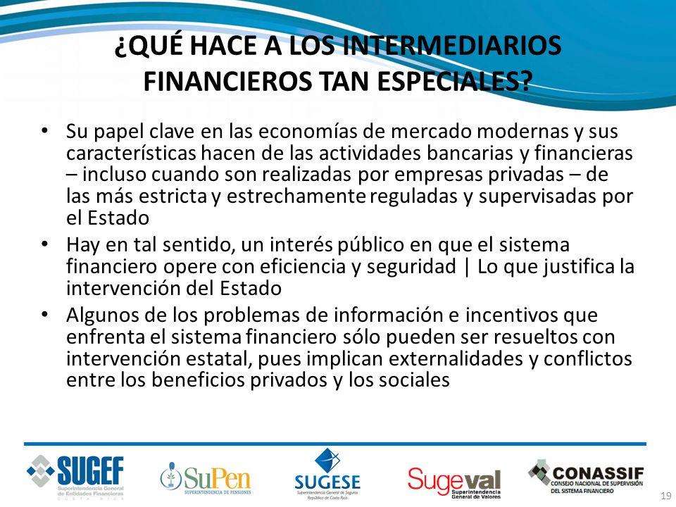 ¿QUÉ HACE A LOS INTERMEDIARIOS FINANCIEROS TAN ESPECIALES? Su papel clave en las economías de mercado modernas y sus características hacen de las acti