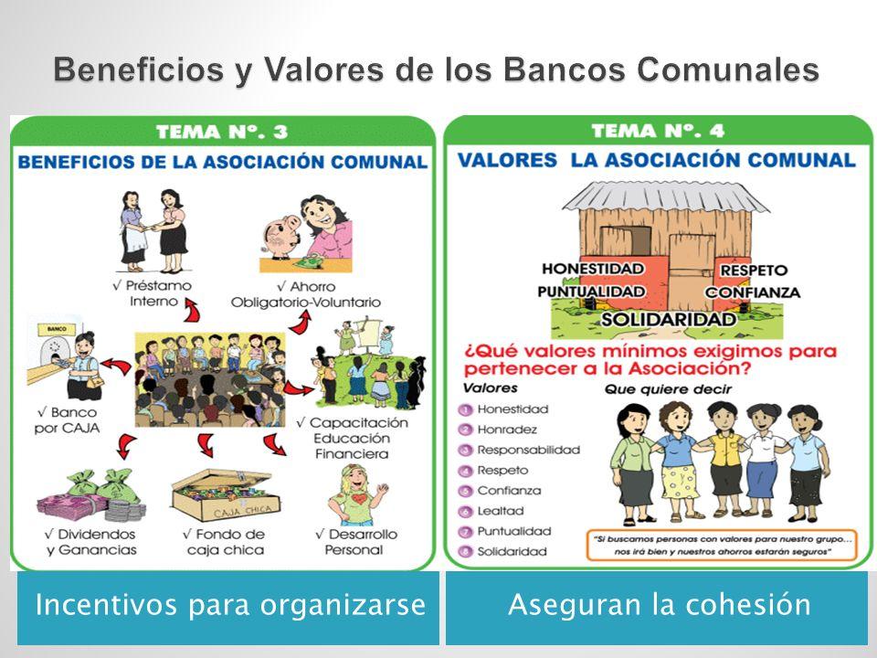 Incentivos para organizarseAseguran la cohesión